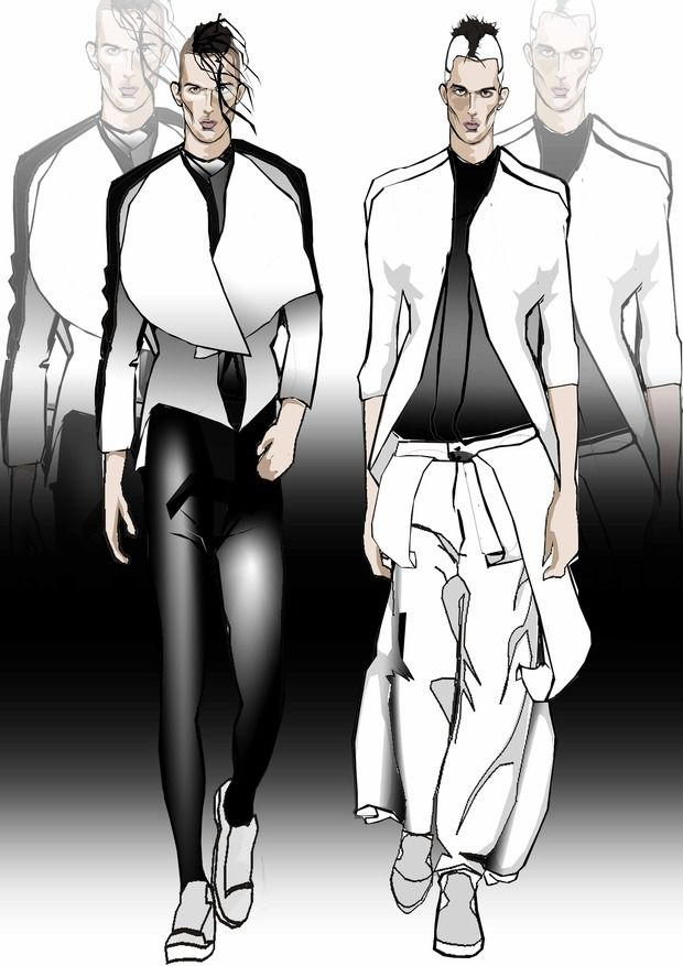 Men fashion sketches. Изображение № 3.