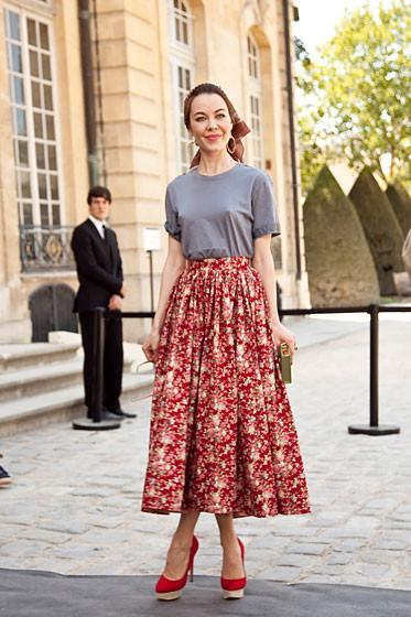 Уличный стиль на Неделе высокой моды в Париже. Изображение № 31.
