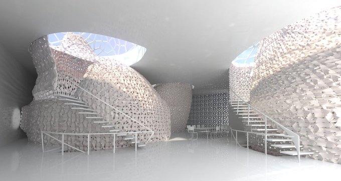 Представлена концепция распечатанного на 3D-принтере интерьера . Изображение № 3.