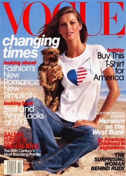 Вспомнить все или 11 обложек Жизель для Vogue US. Изображение № 8.