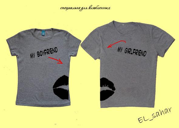 Elsaharova: половинчатые футболки на 14 февраля. Изображение № 8.
