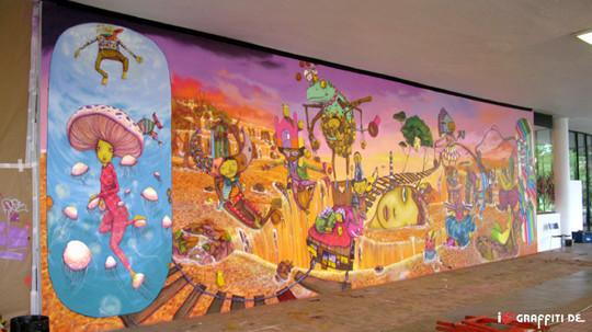 Граффити художники Os Gmeos о творческом пути. Изображение № 28.