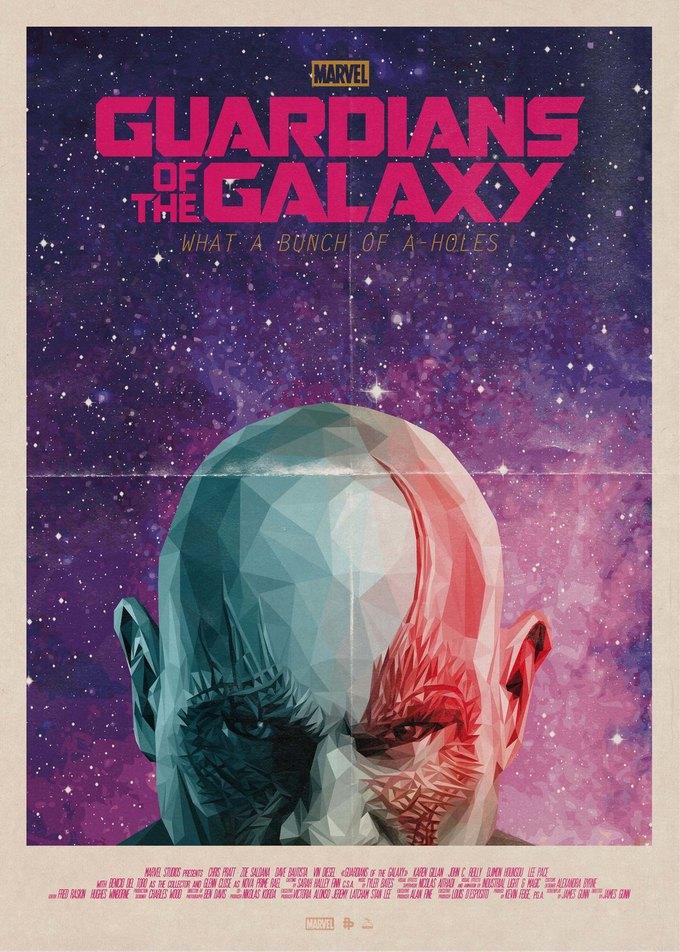 Опубликованы 44 фанатских постера к «Стражам Галактики». Изображение № 15.