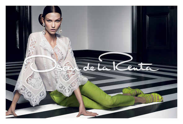 Кампания: Карли Клосс для Oscar de la Renta SS 2012. Изображение № 2.