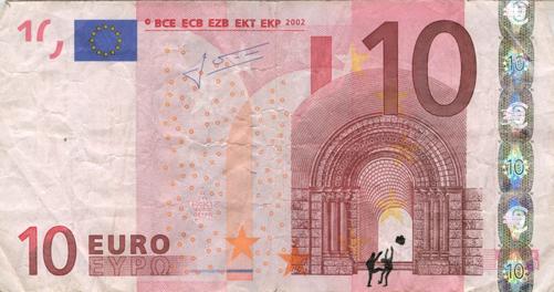 Художник в знак протеста изрисовал банкноты на 3555 евро. Изображение № 22.