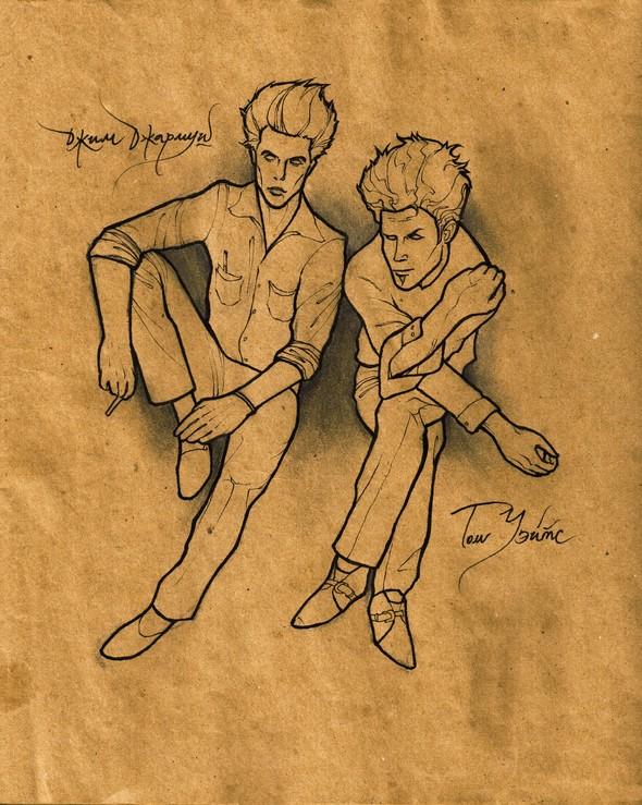 Я просто выкладываю рисунки. В метро есть люди и поинтереснее. Изображение № 11.