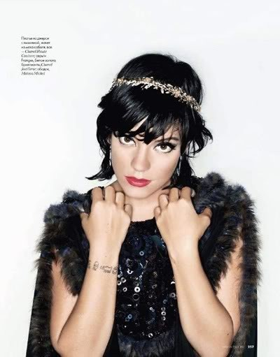 Lily Allen by Karl Lagerfeld for Elle december09. Изображение № 6.