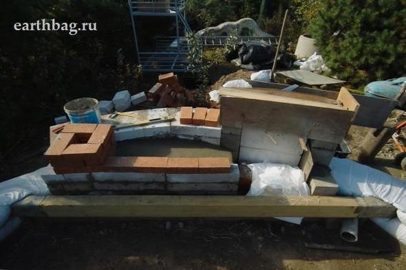 Проапокалиптический DIY - купол из мешков с землей - Earthbag building. Изображение № 6.