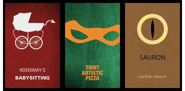 Дизайнеры создали визитные карточки героев Голливуда. Изображение № 8.