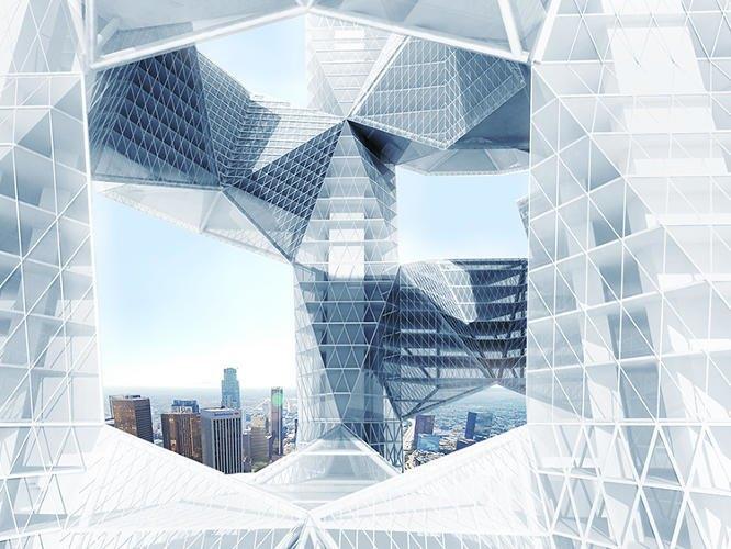 Архитектор предложила идею «объединяющих людей» небоскрёбов. Изображение № 5.