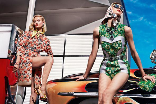 Превью кампании: Элис Кромбез, Меган Коллисон, Наташа Поли для Prada SS 2012. Изображение № 2.