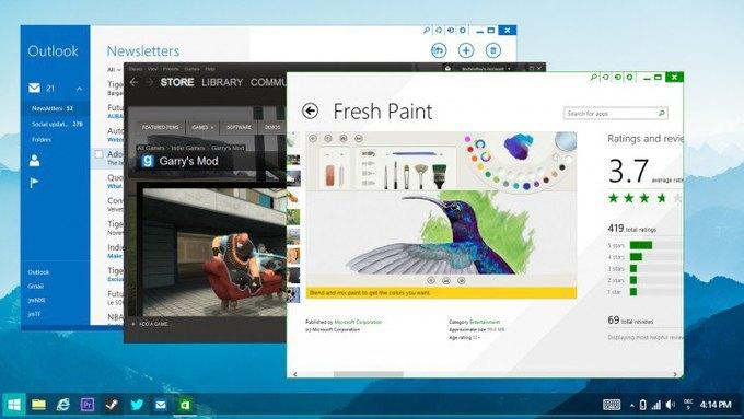 Неофициальная концепция Windows 8 авторства дизайнера Джея Махалани, которая отчасти демонстрирует будущие изменения операционной системы Microsoft. Изображение № 1.
