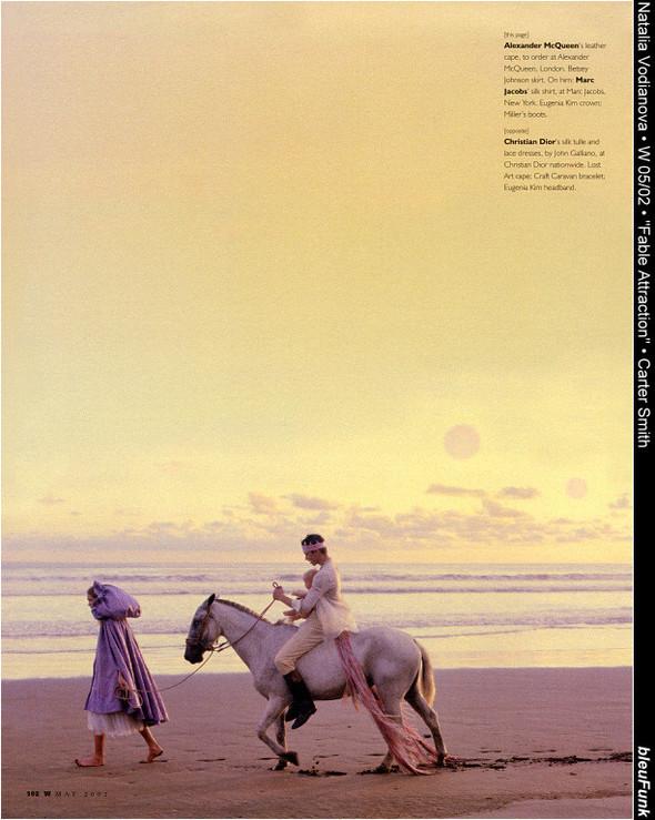 Архивная съёмка: Наталья Водянова для W, 2002. Изображение № 4.