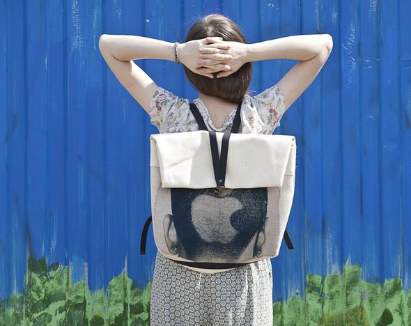 БЕЛОЕ — рюкзаки и сумки из грубого белого хлопка. Изображение № 1.