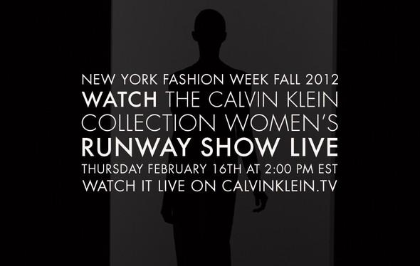 Прямая трансляция показа Calvin Klein Collection на NY Fashion Week. Изображение № 1.
