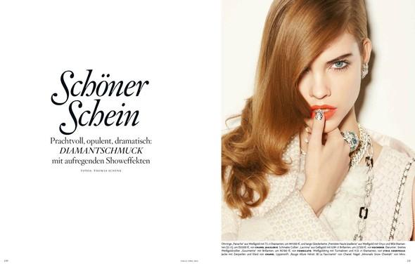 Барбара Палвин для апрельского выпуска Vogue Germany. Изображение № 1.
