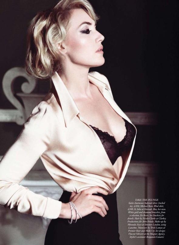 Съёмка: Кейт Уинслет для Harpers Bazaar. Изображение № 4.