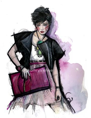 Kathryn Elyse. Fashion Illustrations. Изображение № 15.