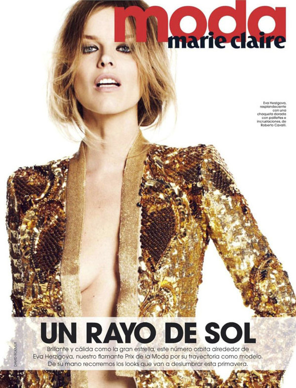 Ева Херцигова в Marie Claire Spain. Изображение № 2.