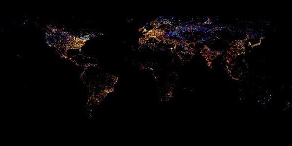 Взгляд из космоса.Nighttime Lights of the World. Изображение № 7.