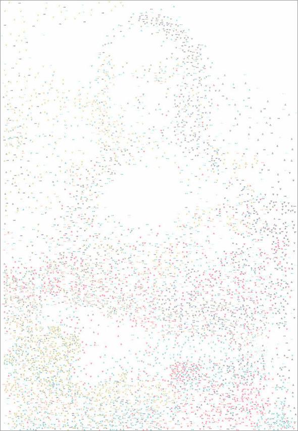 """Рекорд Гиннеса: """"Мона Лиза"""" в 6 239 точках. Изображение № 3."""