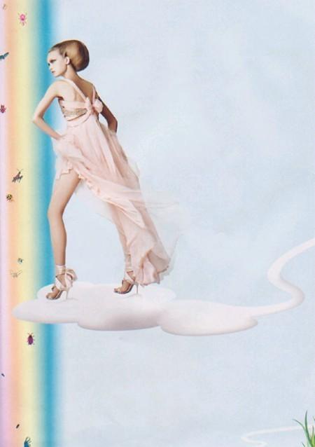 Архивная съёмка: Джемма Уорд для Harper's Bazaar, 2004. Изображение № 6.