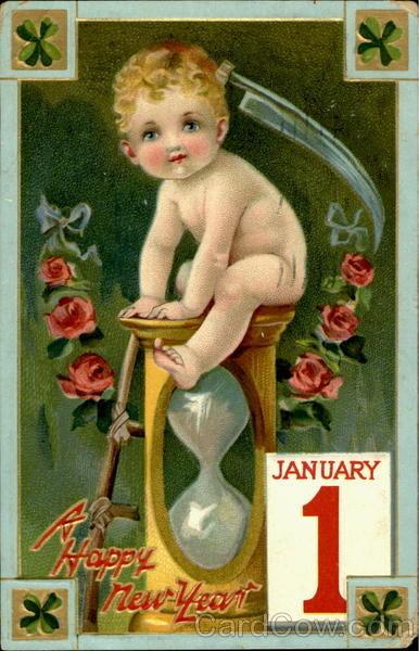 Новогодние открытки 1912 года. Изображение № 17.