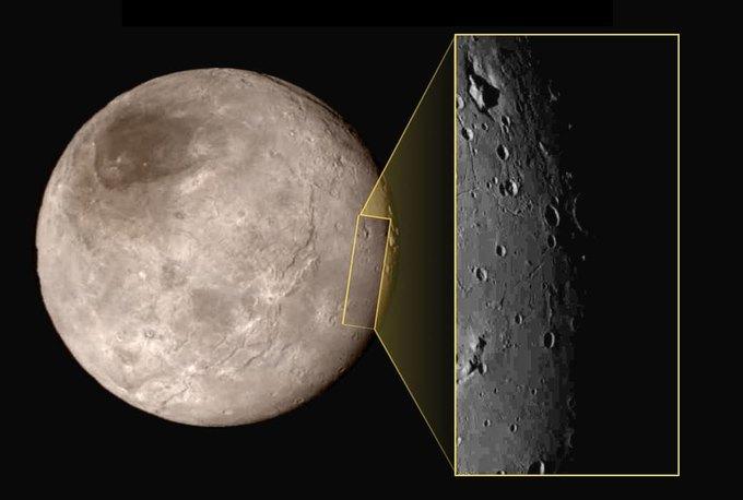 New Horizons обнаружил необычную гору на Хароне . Изображение № 1.
