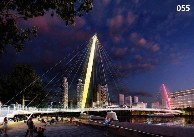 Выложены 74 проекта нового моста через Темзу. Изображение № 43.