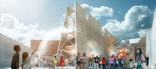 MoMA PS1 представили деревянную инсталляцию с бассейном. Изображение № 1.