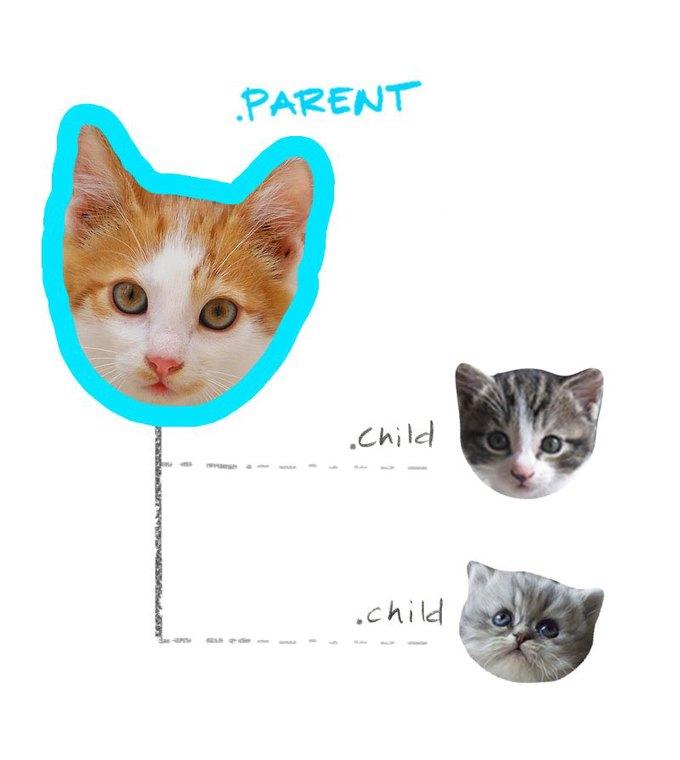 Работу CSS-селекторов объяснили на картинках с котами. Изображение № 1.