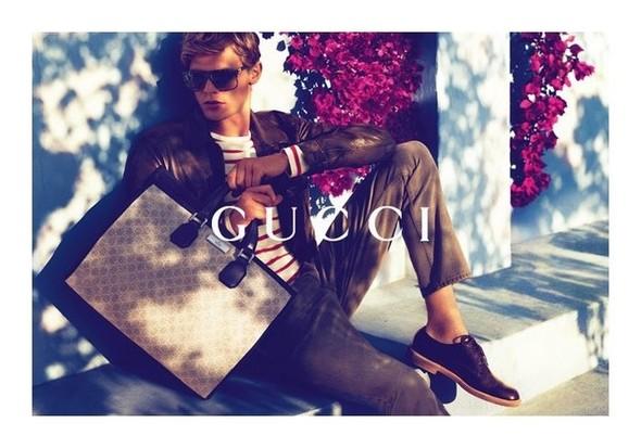 Karmen Pedaru и Lenz von Johnston для рекламы Gucci Cruise 2012. Изображение № 3.