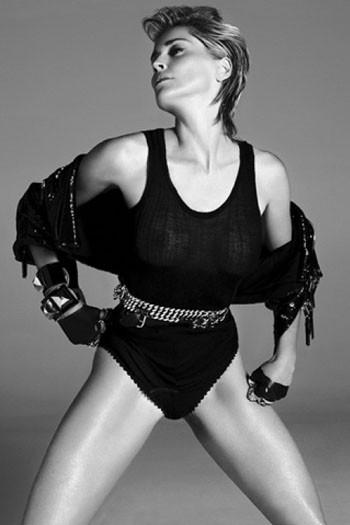 Sharon Stone forVogue Spain. Красива, какМадонна. Изображение № 3.
