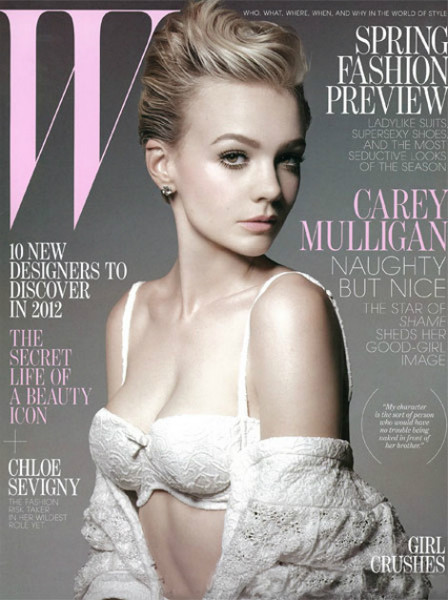 Кэрри Маллиган для W Magazine (январь, 2012). Изображение № 1.