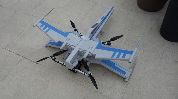Энтузиаст собрал дрон в виде истребителя X-Wing. Изображение № 15.