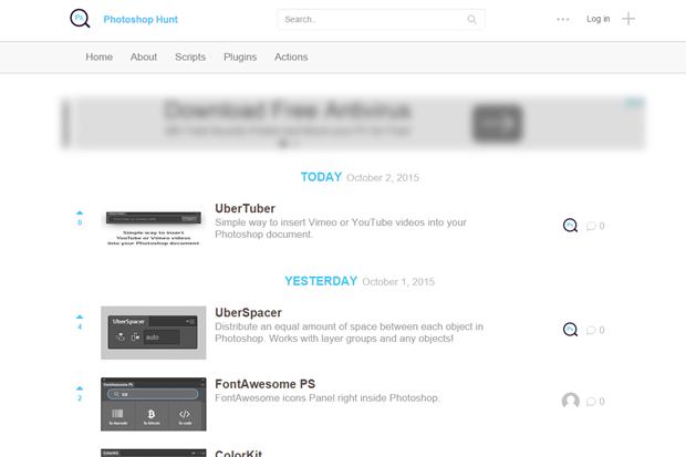 Ссылка дня: Product Hunt для пользователей Photoshop. Изображение № 1.