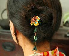 Tsumami-kanzashi Hair Looks. Изображение № 22.