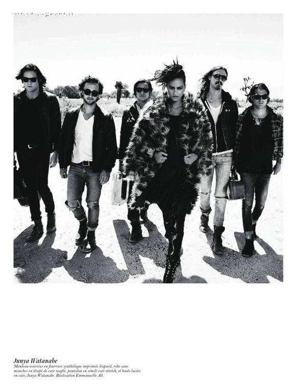 Съёмка: Аризона Мьюз, Лара Стоун, Наташа Поли и другие модели во французском Vogue. Изображение № 39.