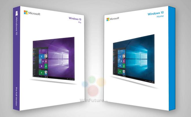 СМИ выложили дизайн упаковок розничных версий Windows 10. Изображение № 2.