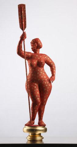 """Скульптура из текстиля """"Девушка с веслом"""", автор Наталья Вельчинская. Изображение № 14."""