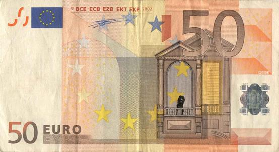 Художник в знак протеста изрисовал банкноты на 3555 евро. Изображение № 13.