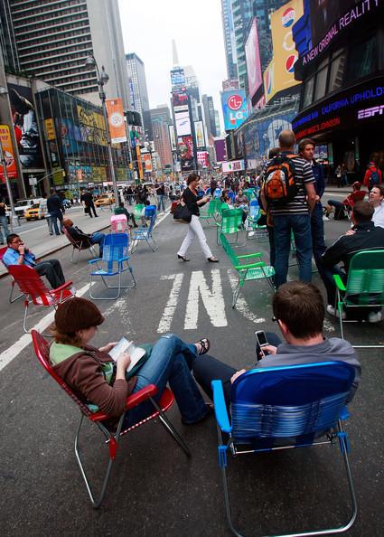 Площадь Таймс-сквер стала пешеходной. Изображение № 4.