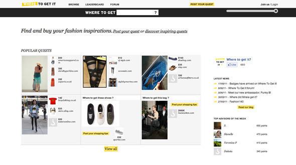 Изображение 2. Wheretoget.it — сайт, помогающий находить вещи по фотографиям.. Изображение № 1.
