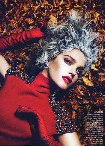 Into the Woods. Natalia Vodyanova. Vogue Sept-09. Изображение № 3.