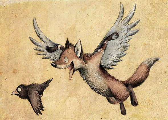 Забавные иллюстрации из жизни лисиц от Skia. Изображение № 6.