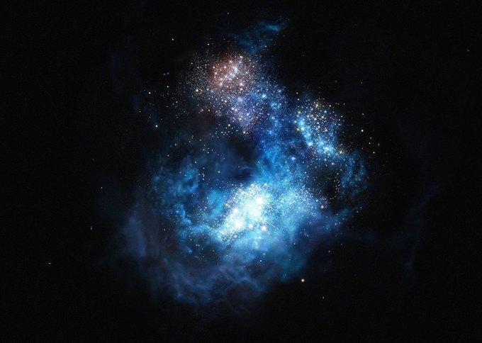 Астрономы обнаружили самые древние звёзды . Изображение № 1.