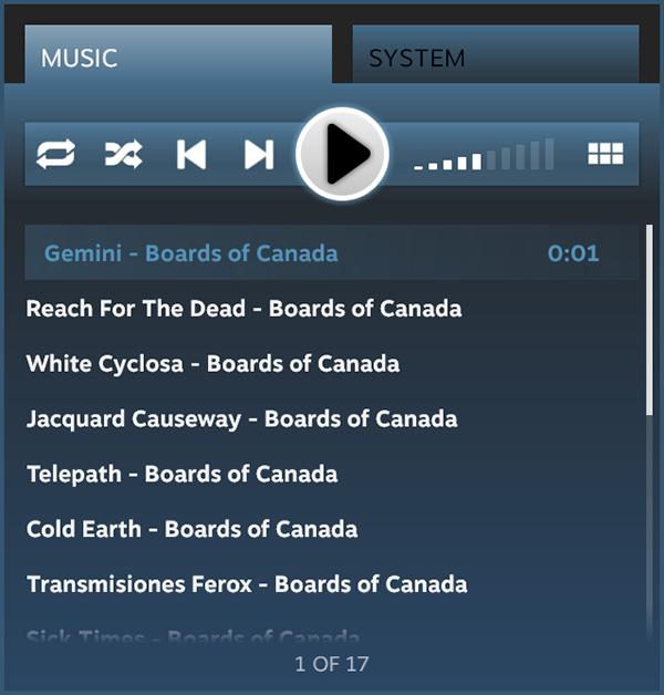 В Steam появится аудиоплеер. Изображение № 7.