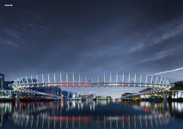 Выложены 74 проекта нового моста через Темзу. Изображение № 18.