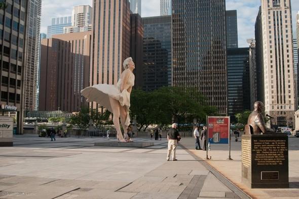 Памятник Мэрилин Монро в Чикаго. Изображение № 5.