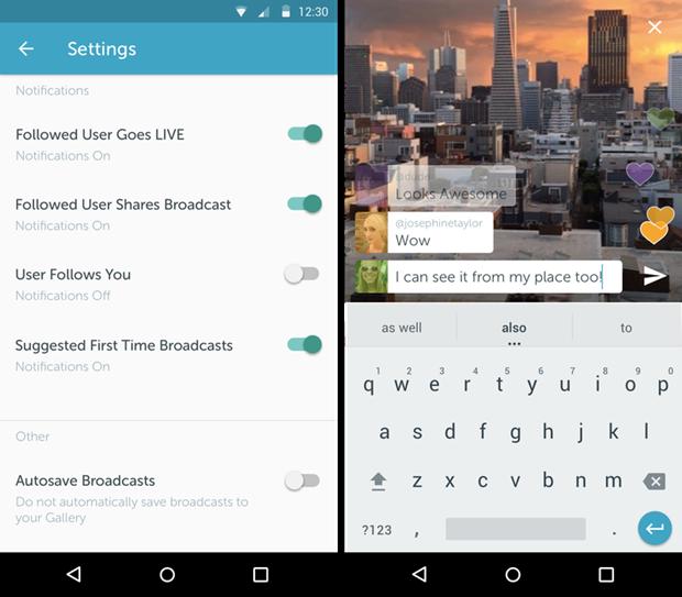 Приложение Periscope для прямых эфиров вышло на Android. Изображение № 2.